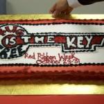 Red Ribbon Week Cake