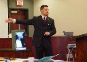 Jeff Merrell arguing a murder case